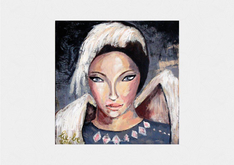 NINA WINTER 30x30cm Acrylics on Wood
