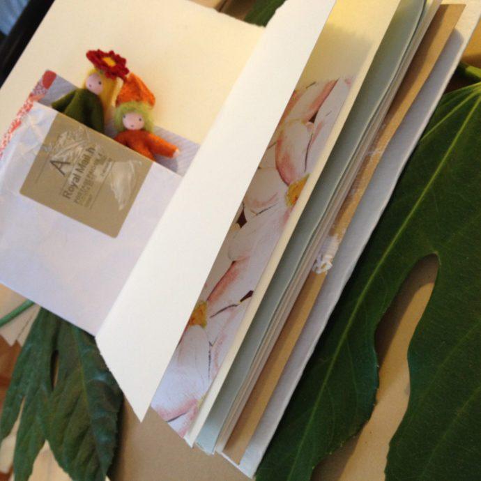 Pamphlet stitch found paper journal