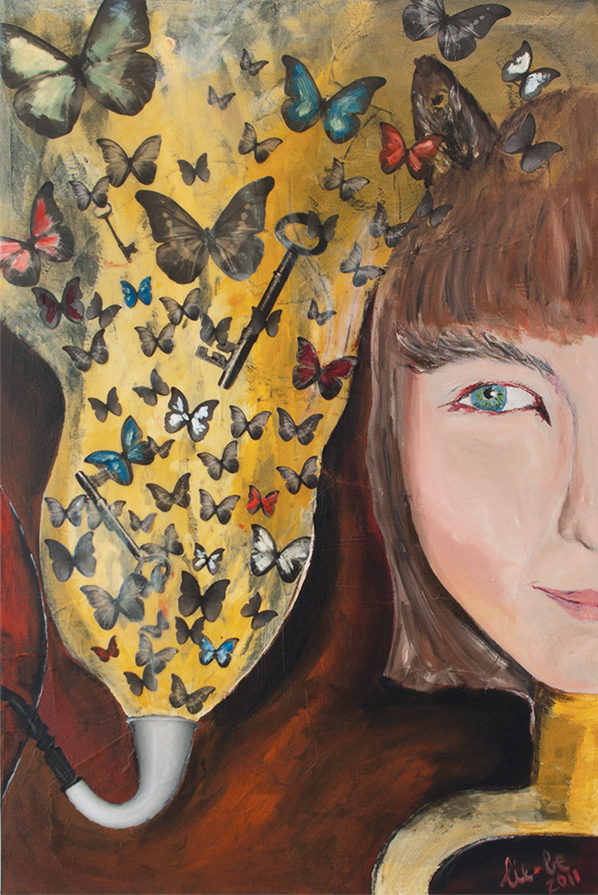 Death   Key to new life 90x60cm Oil on Canvas 2011 © Liesel Beukes