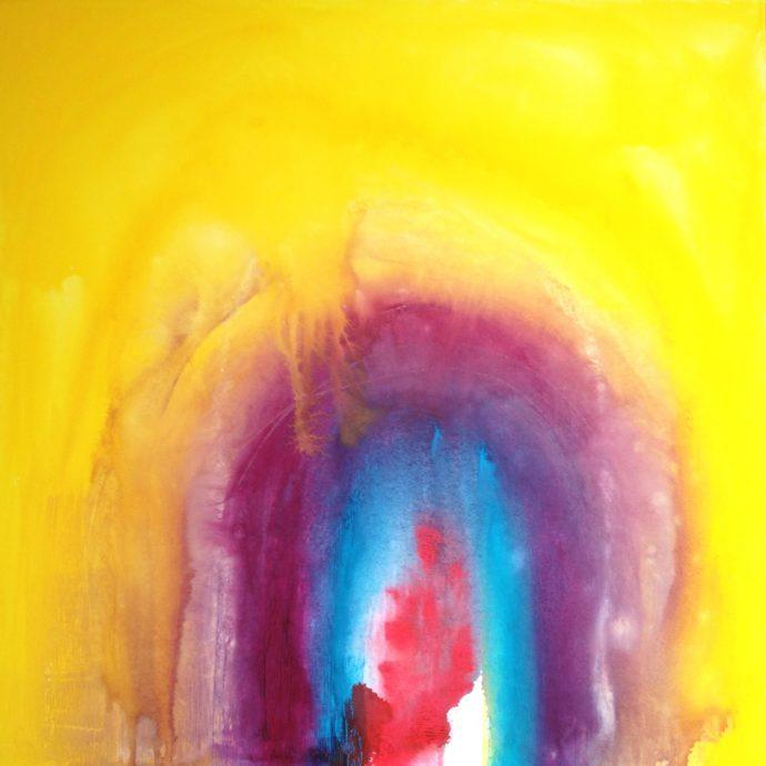 Enter my Soul, 70 x 70cm, Gouache on Canvas, 2012