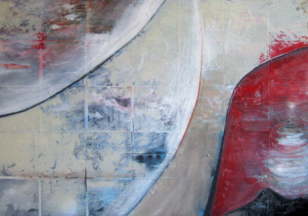 One Sky | Mixed Media on Canvas 100cm x 140cm © Liesel Beukes 2011
