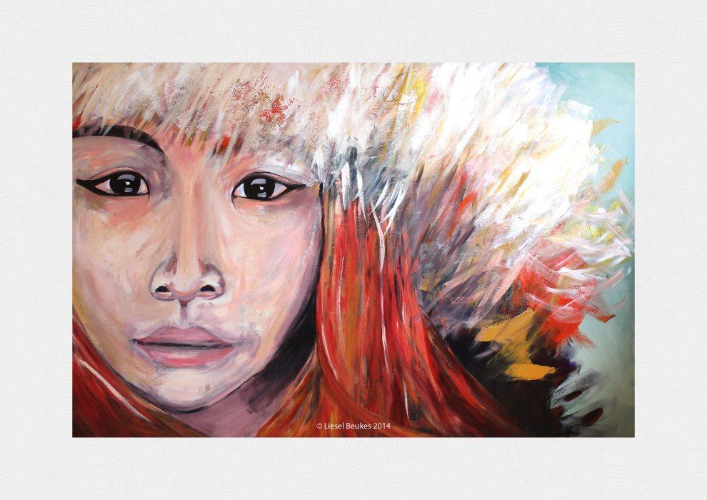 THE STORYTELLER 120x180cm Acrylics on Canvas