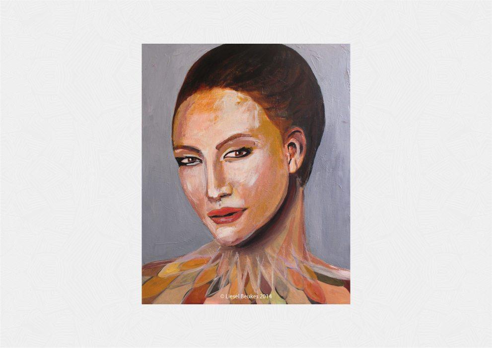 THE NYMPH 100x80cm Acrylics on Canvas