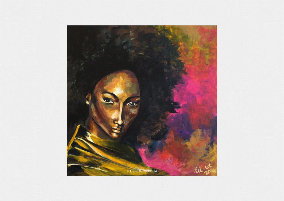 THE LINGUIST 50x50cm Acrylics on Canvas