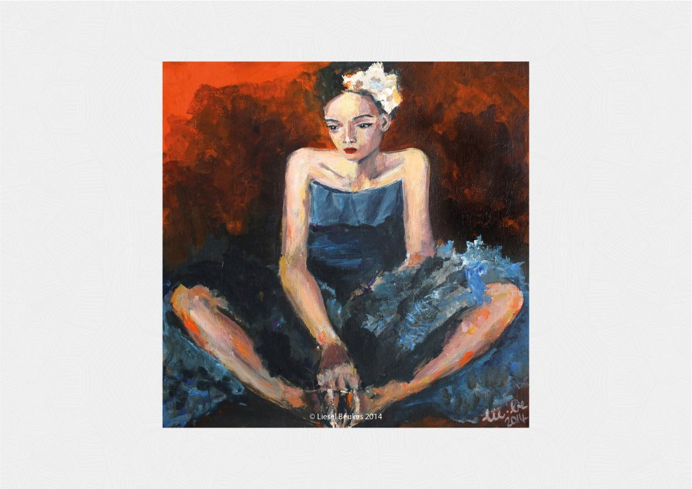 BABY BLUE 50x50cm Acrylic on Canvas