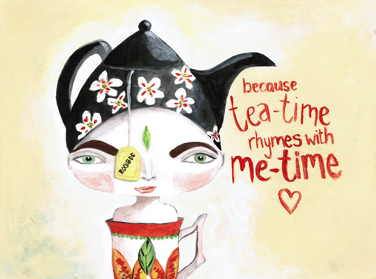 Miss Tea-Time (because me-time rhymes with tea-time)